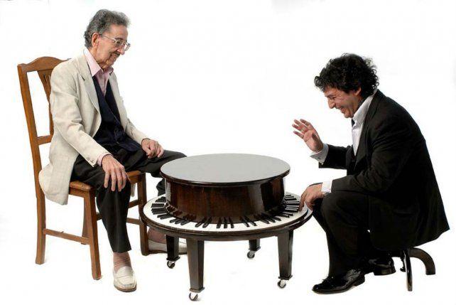 Los Salgán. Horacio y César compartieron la pasión por la música ciudadana.