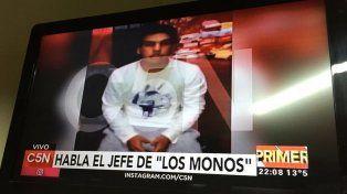 Buscan que alguien me mate, denunció el jefe de Los Monos en un video desde la cárcel de Coronda