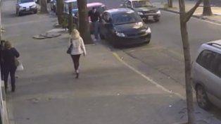 El video. Soza Bernard fue reconocido por su novia al dejar el auto de Zulatto.