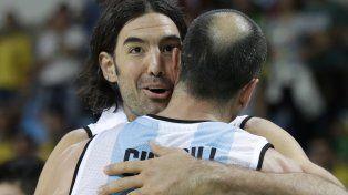 Dos potencias. Scola se funde en un cálido abrazo con Manu Ginóbili