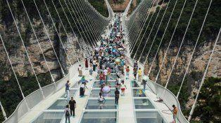 Vértigo. La pasarela de 430 metros de largo tendida sobre un cañón.