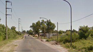 La zona donde se produjo el crimen.