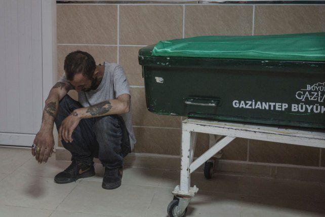 duelo. La morgue de la ciudad de Gaziantep