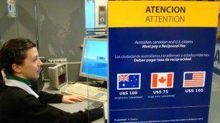 Eliminan la tasa de reciprocidad para los turistas de los Estados Unidos que visitan la Argentina