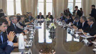 Los ministros estuvieron presentes en la reunión convocada por el presidente Macri.