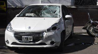 siniestro. El auto que manejaba el jugador de fútbol fue llevado hasta la comisaría