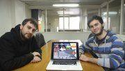 Creativos. Federico Puopolo e Ignacio Puccini, emprendedores locales que ya crearon sus videojuegos.