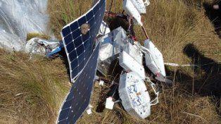 Valioso. Los restos de la nave usada para llevar internet a áreas rurales.