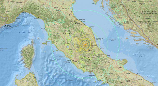 El temblor se sintió en la capital italiana.