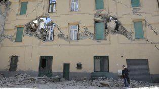 La mayoría de los edificios de Amatrice sufrieron daños estructurales severos.