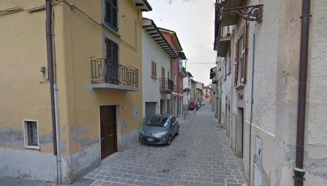 Una vista de una calle de Amatrice antes del terremoto.