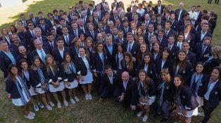 Olímpicos sueltos en Olivos: Macri recibió a la delegación que fue a Río