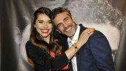Leo Sbaraglia y Eva de Dominici cómplices y sonrientes en la avant premier de Sangre en la boca.
