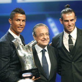 Cristiano Ronaldo ganó el jueves el premio de la UEFA al Mejor Jugador en Europa la temporada pasada.