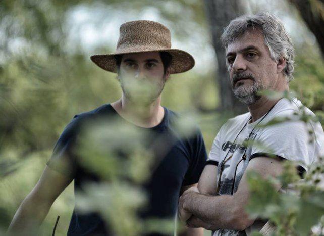 Gustavo Fontán (der.) se encargó él mismo de la adaptación al cine de la novela