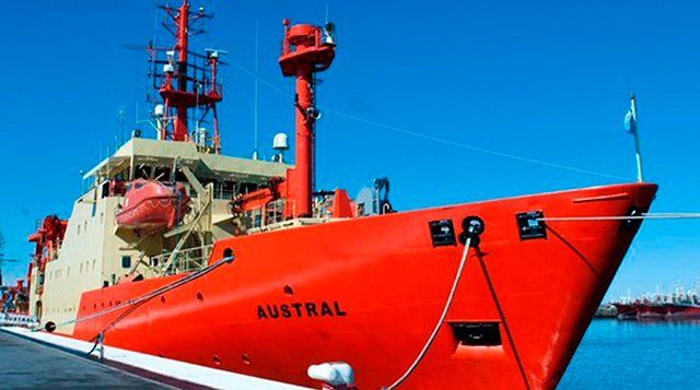 El Austral.Desde la nave harán mediciones de la profundidad del talud en la parte norte del margen continental argentino.