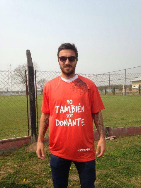 Nacho Scocco se sumó a la campaña Yo también soy donante.