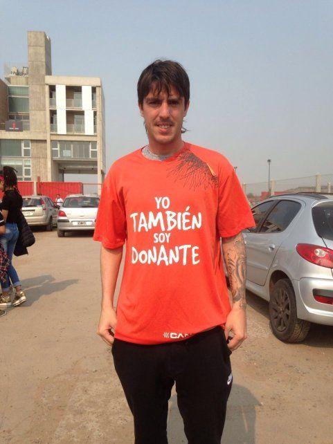 Mauro Formica se sumó a la campaña Yo también soy donante.