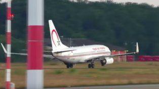 La aeronave de Royal Air Maroc que casi no alcanza a levantar vuelo.