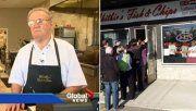John McMillan, el dueño del restaurant contó la historia a los medios.