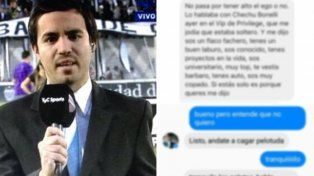 Escracharon a Fourcade, el periodista deportivo acusado de acosador de mujeres