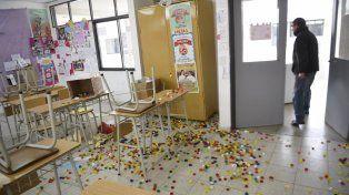sin protección. La escuela sufre ataques en forma permanente