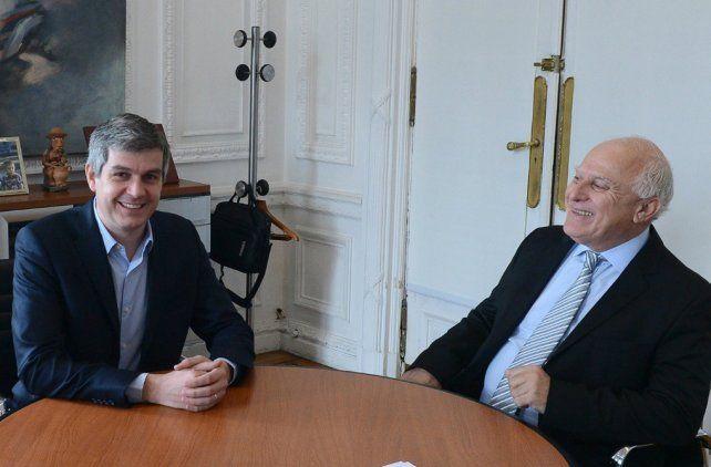 cónclave. Marcos Peña y Miguel Lifschitz