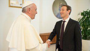 líderes. Francisco recibió en Santa Marta a Mark Zuckerberg.