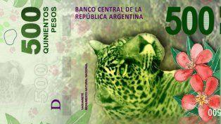 El billete de 500 pesos fue puesto en circulación hace pocos días.