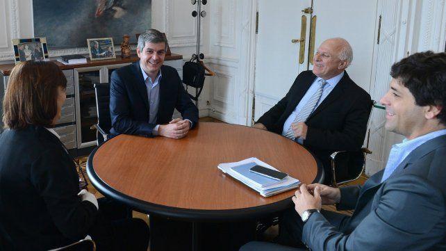 Alicia Ciciliani en reunión con el Jefe de Gabinete Marcos Peña y el gobernador Miguel Lifschitz