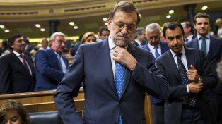 Ultimas cartas. Rajoy se presentó ante el Parlamento como la única opción.
