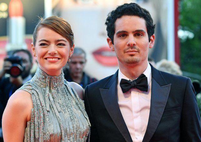 en vivo. Emma Stone y el director Damien Chazelle abrieron la Mostra.