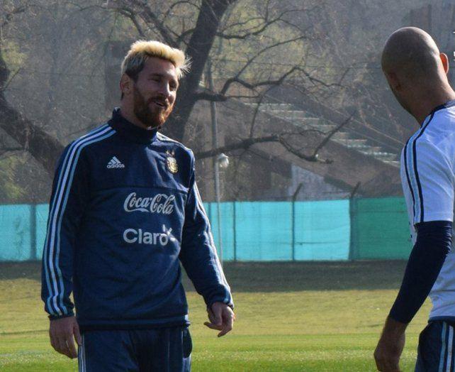 Feliz. Messi volvió a la selección y hoy seguramente tendrá un gran recibimiento.