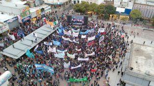 Marcha Federal. El acto se llevó a cabo en la Plaza Montenegro.