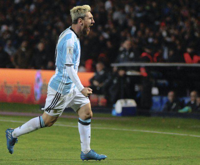 Con toda la furia. Messi grita el gol con alma y vida. La Pulga volvió con todo a la selección.