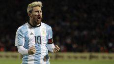 El rubio del gol. Messi gritó su tanto con toda la furia.