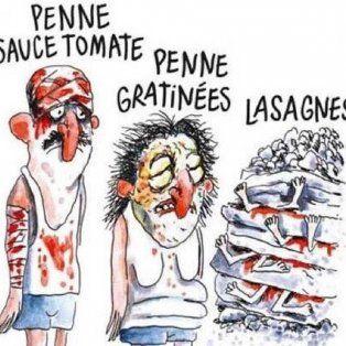 Polémica. La ilustración que levantó la ira de los italianos.