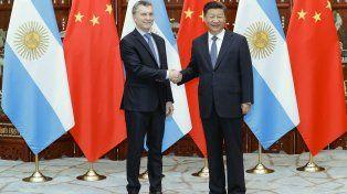 Macri y el presidente de China