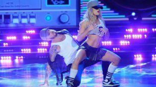 La pareja en acción. Ya dieron cátedra como bailarines. Anoche la rompieron en ShowMatch.