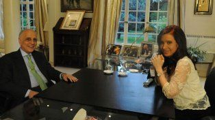 Carlos Bulgheroni durante una reunión con Cristina Fernández de Kirchner