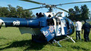 Uno de los helicópteros de la policía provincial.