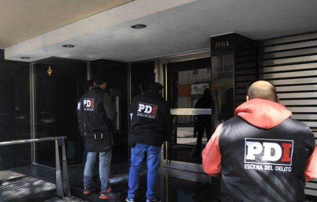 La PDI trabajó en el lugar del ataque.
