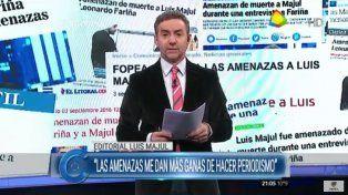 Luis Majul habló en La Cornisa de las amenazas de muerte que recibió