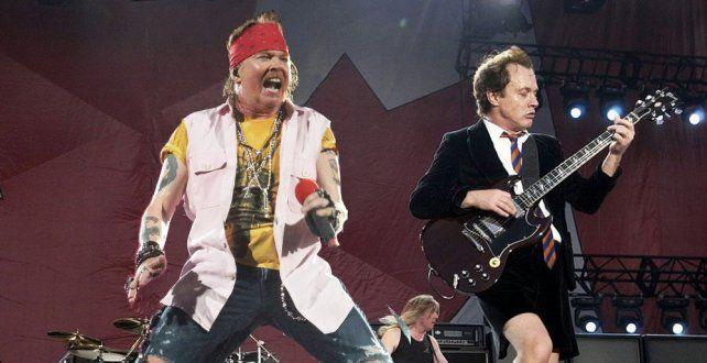 Axl Rose brilló junto a AC/DC en su gira americana