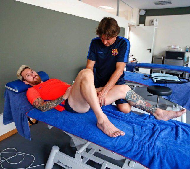 Messi usó las redes sociales para contar cómo está de la lesión en el aductor izquierdo