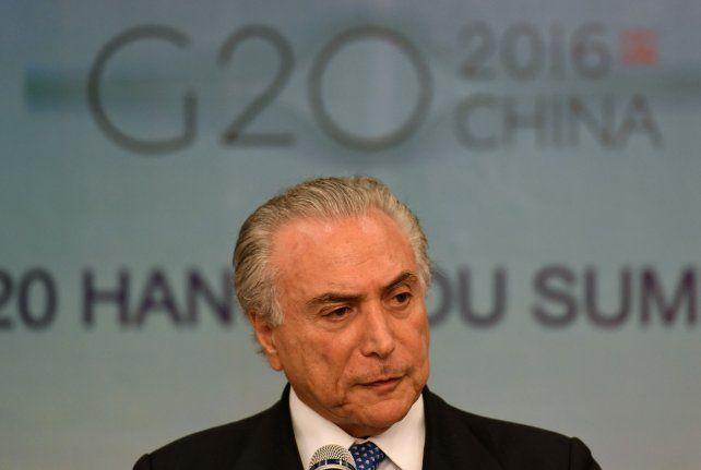 De gira. Michel Temer estrenó su cargo en la cumbre global del G-20 en China.