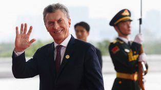 Saludo. Mauricio Macri concluyó ayer su visita a Hangzhou