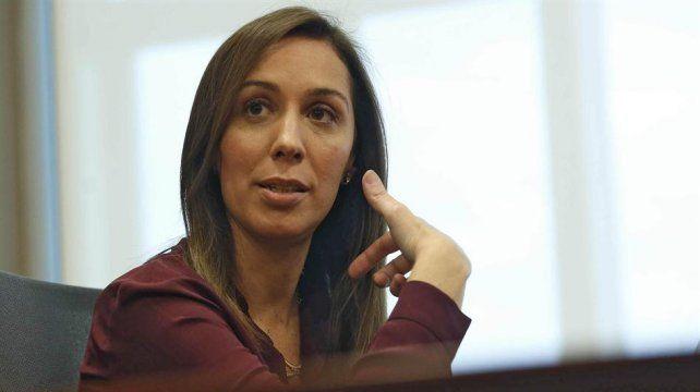 Reproches. La mandataria bonaerense también cuestionó el rol de Cristina.