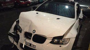 Alta gama. El BMW blanco impactó con un Fiat Duna