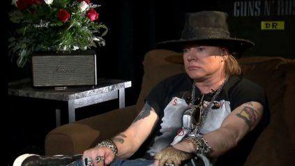 Axl Roses en la entrevista concedida ayer a un medio sudamericano.